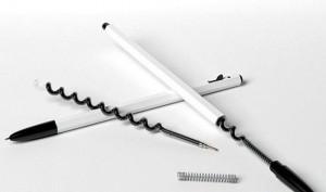 螺旋弯曲形状的创意圆珠笔芯