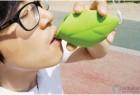 口袋携带的绿叶创意水杯
