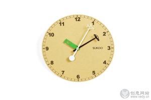 交通工具演示的创意时钟设计