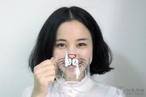 可爱猫咪胡须的创意玻璃杯
