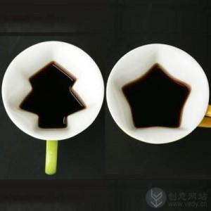 树形和星星形状的创意杯子