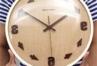 逆时针旋转的创意时钟设计