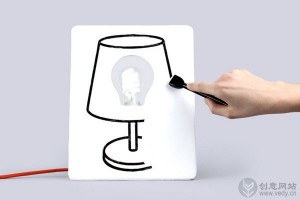 可以DIY涂鸦画板的创意灯具