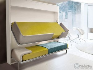 多功能可收纳折叠床的创意设计