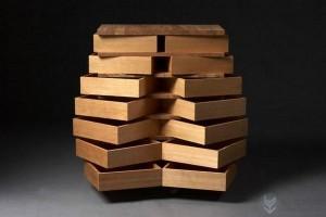 多个旋转抽屉组合而成的创意收纳柜