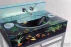 鱼缸与盥洗台的创意组合家居