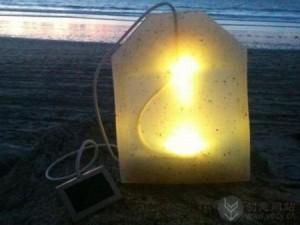 创意茶包样式的太阳能灯具
