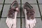 创意逼真的赤脚五指鞋