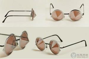 复古锥形的创意太阳眼镜
