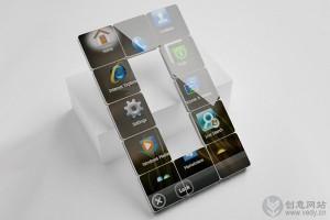 可拆分拼装的模块化创意概念手机