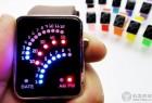 扇形创意的LED电子手表