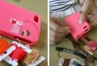 手工DIY十字绣的创意iPhone手机套