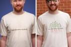 紫外线感应的创意T恤设计