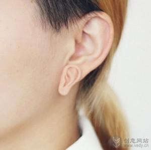 小耳朵形状的创意耳针