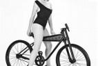 双轮防滑的创意自行车