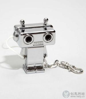 """机器人大""""眼睛""""的耳机分线器"""