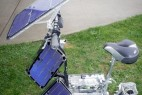 太阳能动力的环保创意电动车