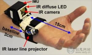 手表样式的手势感应设备