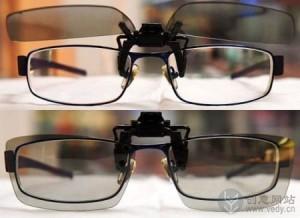 方便看3D电影的创意眼镜夹片