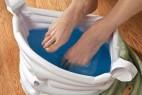 充气式的便携足浴袋