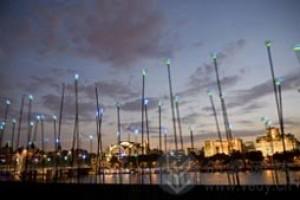 风力发电的创意LED灯