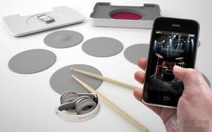 便携的概念电子鼓设计