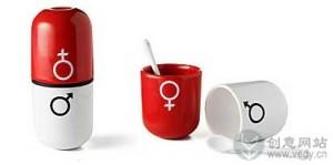 创意咖啡杯的情人节礼物