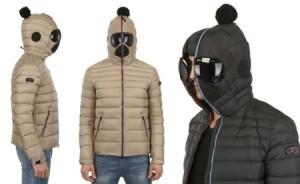 带面罩封闭的防寒夹克棉服