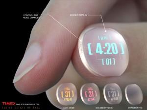 物联网技术的隐形指甲手表设计