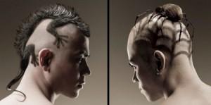 蜘蛛和蜥蜴样式的非主流创意发型设计