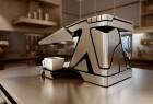 变形创意造型设计的咖啡机