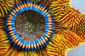 手工铅笔制作的创意雕塑艺术