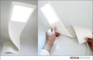 可随意扭曲的创意台灯设计