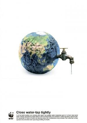 WWF(世界自然基金会)发布的公益海报设计