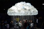 """创意灯泡的""""低空彩云"""""""