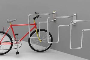 可以节省空间的自行车摆放架