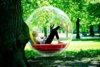 概念休息躺椅型似玻璃泡泡屋
