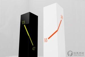 三维立体角度的创意时钟设计