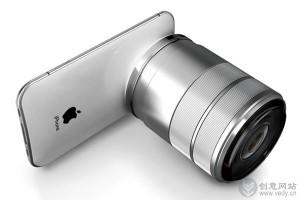 带单反镜头的 iPhone PRO 版本概念手机