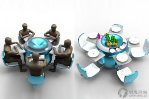 模块化的组合创意餐桌设计