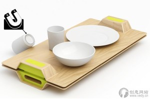 带有磁石的餐盘组合创意餐具