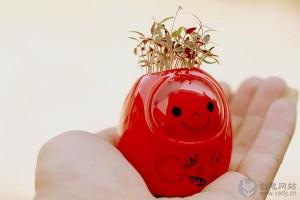 点头娃娃里爱情草的情人节创意礼物