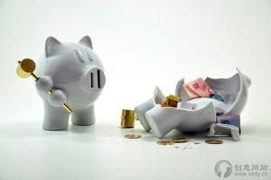 自残的小猪卡通创意产品存钱罐