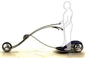流线型的滑板摩托车概念设计