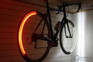 自行车轮上的LED发光圆环