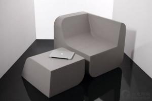 组合式桌椅的创意家具设计