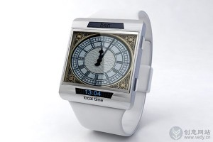 大笨钟样式的创意手表设计