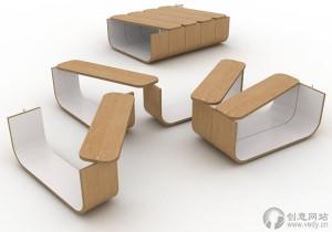 模块化的桌子创意茶几设计
