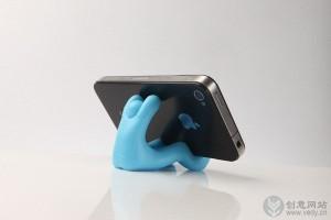 卡通小人造型的创意手机座