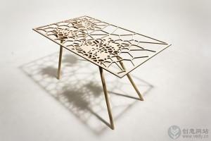 简约复古镂空雕花的创意茶几设计
